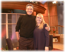 Tonya with Maury Povich